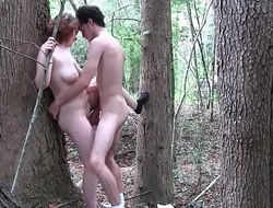 Horny Couple Having outdoors