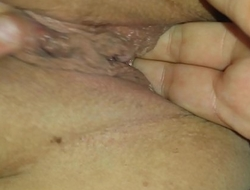 Close up helping my girlfriend finger her pussy