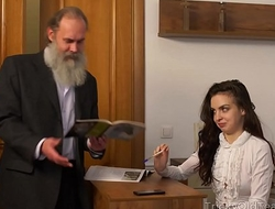 Tricky Old Teacher - Old instructor with her beautiful natural boobs Milana Witchs