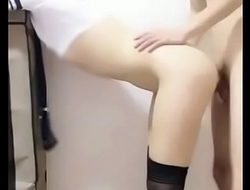 056 制服黑丝主播曹X瑶约粉丝直播后入高潮 Part 1 - FuckAsianBeauty porn