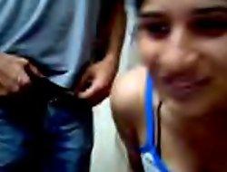 desi prepare oneself loves flashing on webcam