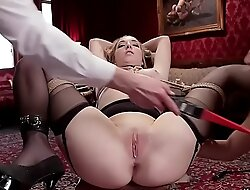 Hot slaves licking and anal pounding