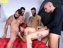AMATEUR EURO - Latina Lilyan Red Gets Banged By Tattooed Newbies