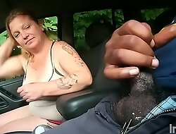 Milf Jamie Biggs forced too give a tryout blowjob so she can get a ride home